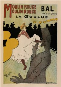 "Vintage Moulin Rouge ""Bal tous les soirs"" Advertising poster."